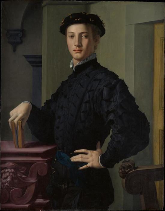 Бронзино, Портрет юноши с книгой , середина 1530-х годов.