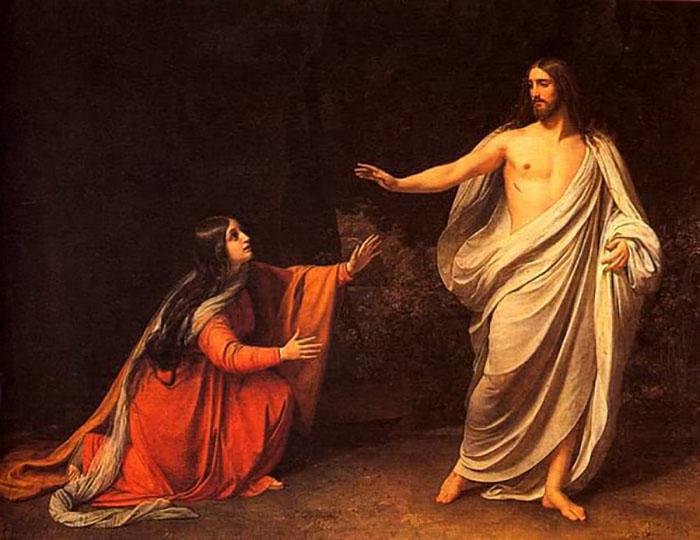 Мария Магдалина и Иисус Христос.