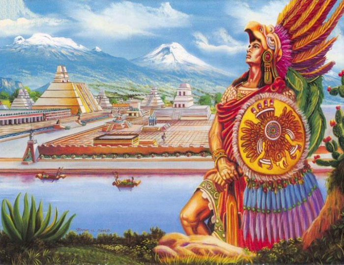 Ацтеки построили настоящий рай земной на непригодных землях.