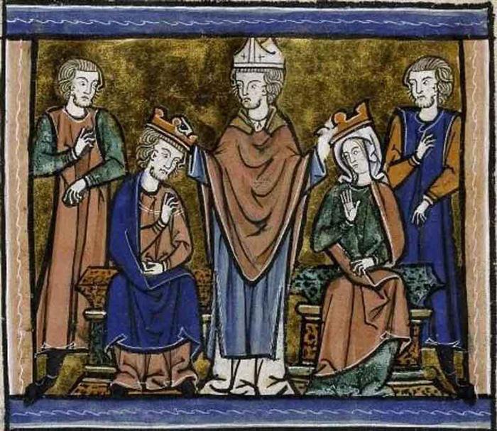 Королева Мелисенда вступает в брак (её считали прообразом Мелюзины).