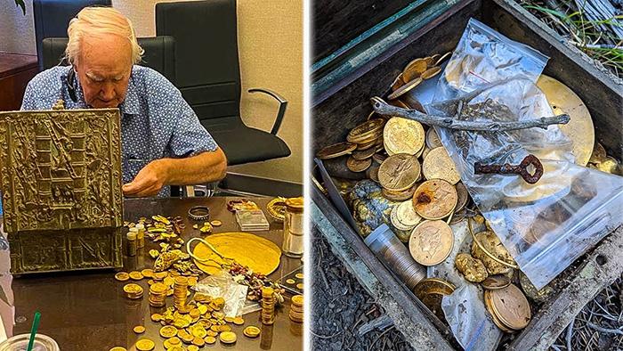 Не так давно Фенн опубликовал эти фотогоафии,заявив, что некто с востока нашёл его тайник с сокровищами.