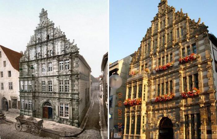 Дом Крысолова в 1900 и 2011 годах.