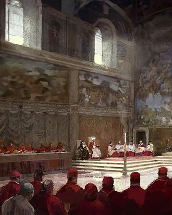 Папа Пий IV приказал прикрыть обнажённые тела на фресках фиговыми листьями и набедренными повязками.