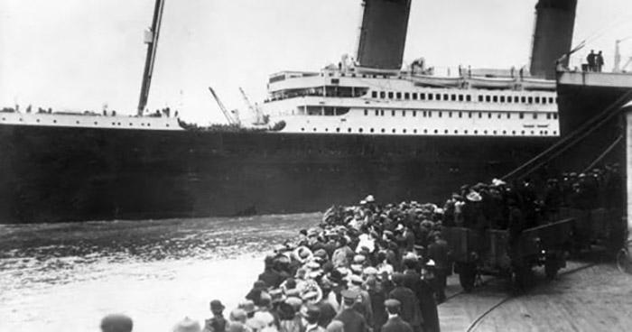 Архивная фотогорафия «Титаника» перед его первым и последним путешествием.