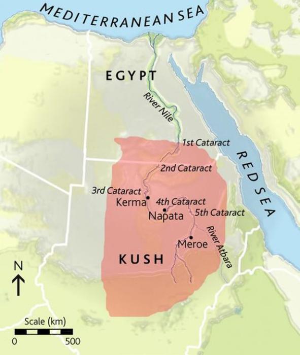 Карта Королевства Куш.