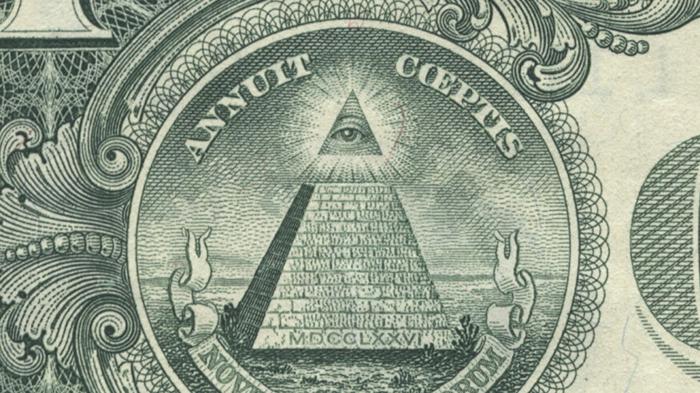Масонский символ на американских деньгах.