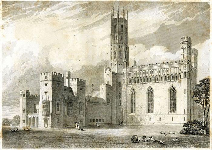 Внутренний двор аббатства Фонтхилл.