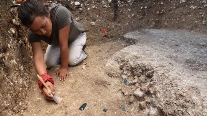 Часть участка Aguada Fenix, раскопанного Мелиной Гарсия.