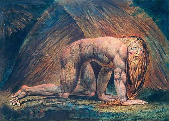 Картина Уильяма Блейка, изображающая схватку Навуходоносора с безумием.