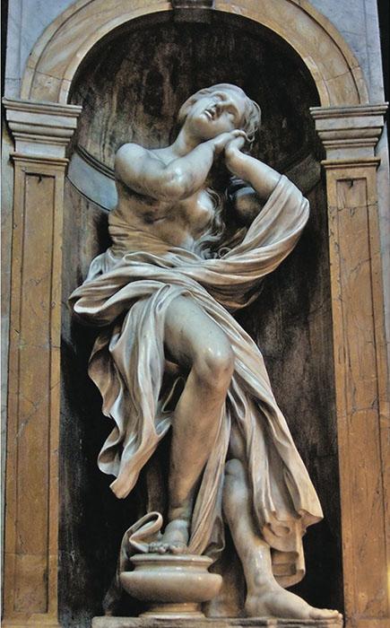 Такой обычно изображало Марию Магдалину искусство эпохи Возрождения.