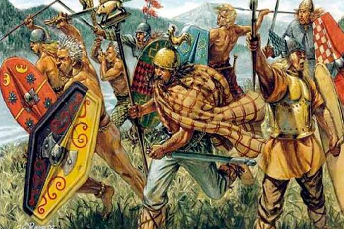 Кельты - жестокие и отважные воины.