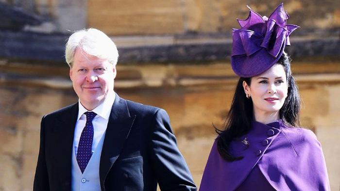 Чарльз Спенсер со своей женой Карен на свадьбе принца Гарри и Меган Маркл.