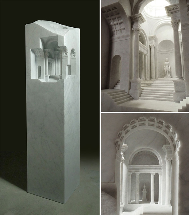 Интерьеры зданий всегда больше привлекали художника, чем их наружная часть.