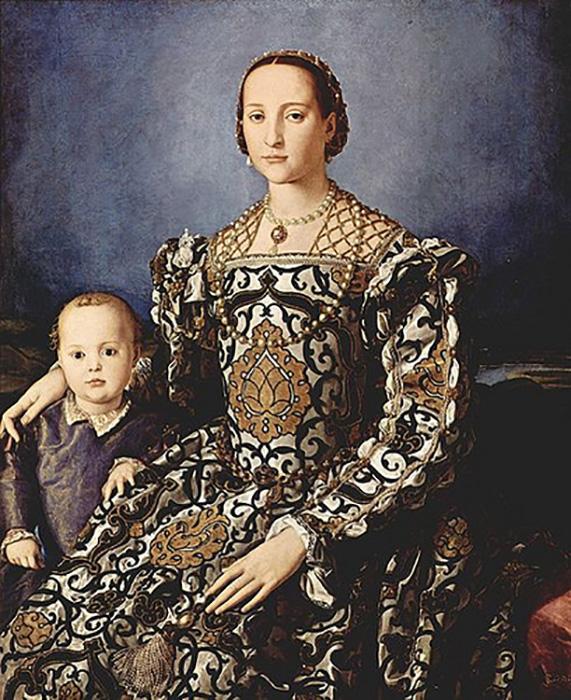 Бронзино, Элеонора ди Толедо и Франческо Медичи , около 1550 года.