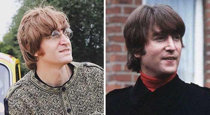 Джон Леннон и его двойник.
