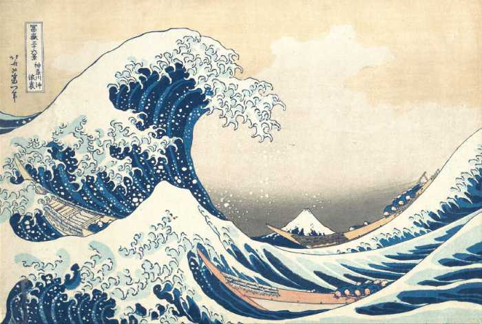 Большая волна от Канагава, Кацусика Хокусай.