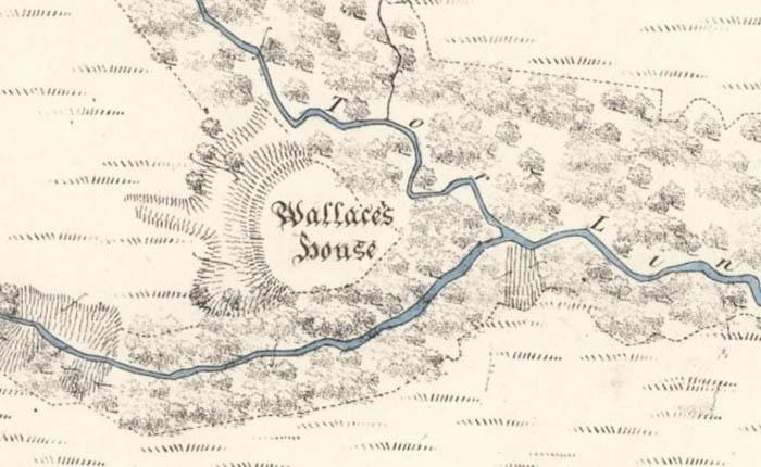 «Дом Уоллеса» на карте Первого издания Обзора таинств за 1857 год.