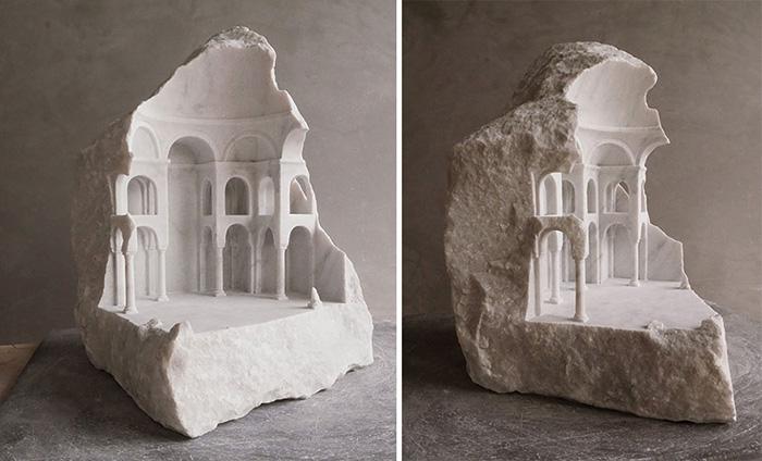 Больше всего скульптора интересовали храмы.