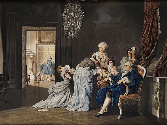 Арест Людовика и Марии-Антуанетты.