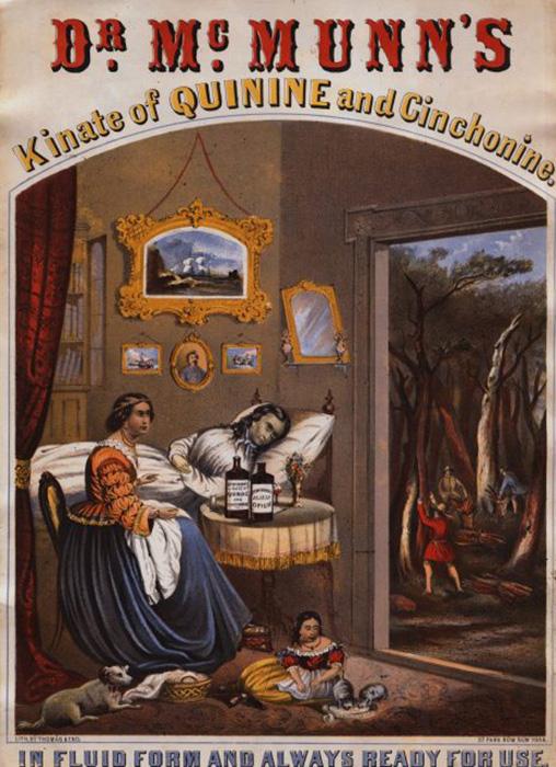 Реклама эликсира опиума доктора МакМанна, около 1862-1865 гг.