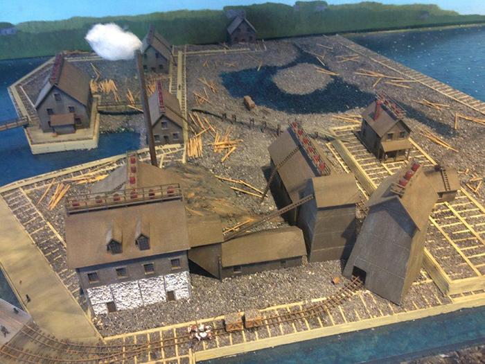 Модель шахты Серебряного острова на выставке.