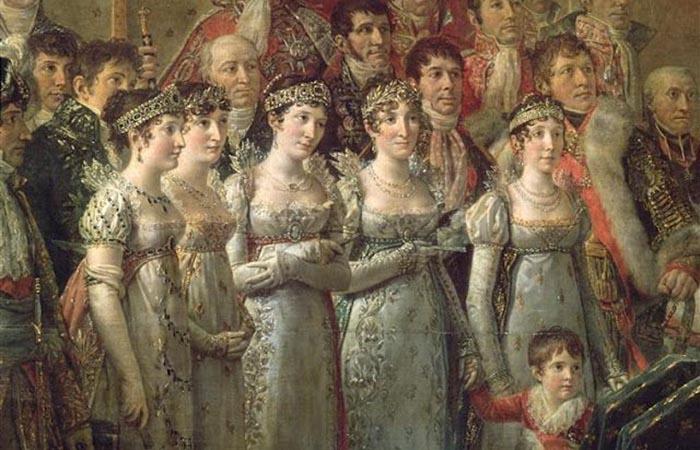 Братья и сёстры Наполеона на его коронации.