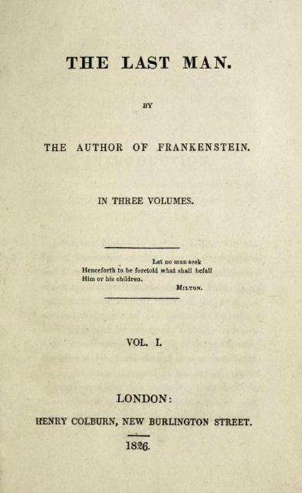 «Последний человек», 1-е издание, титульный лист.
