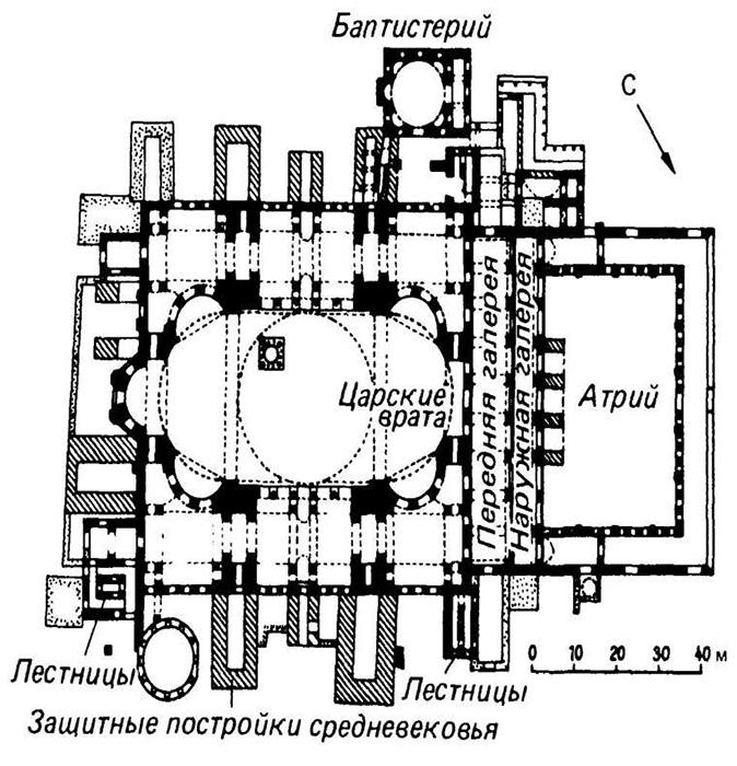 План собора Святой Софии.