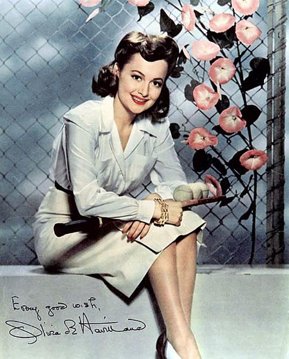 Рекламная фотография Оливии де Хэвилленд, 1940-е.