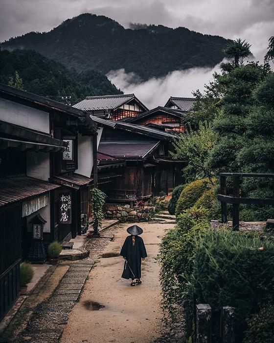 Цумаго (префектура Нагано) в долине Кисо на Накасендо.