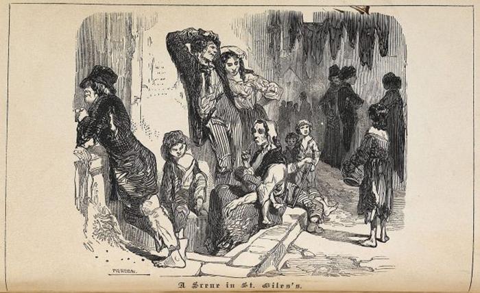 Вокруг пивоварни жили в основном бедные ирландские иммигранты.