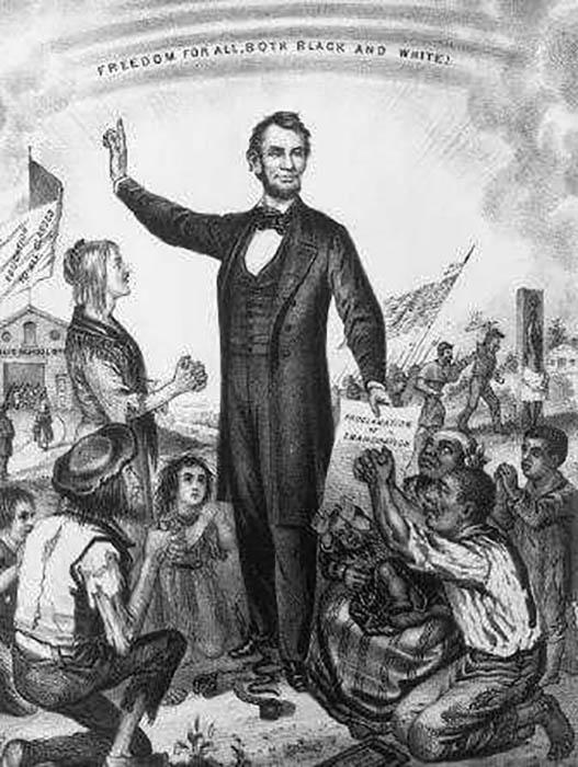 Авраам Линкольн преследовал несколько иные цели, чем исключительно борьба с рабовладением.