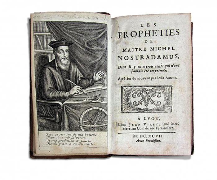 Нострадамус издавал свои пророчества в альманахах.
