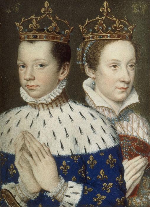 Франциск II  Мария Стюарт.