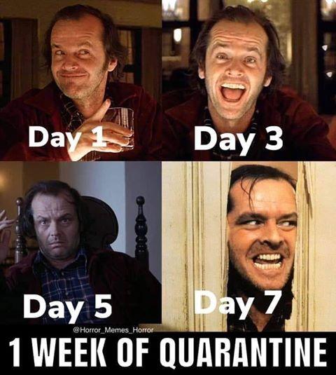 Примерно так выглядит неделя на карантине.