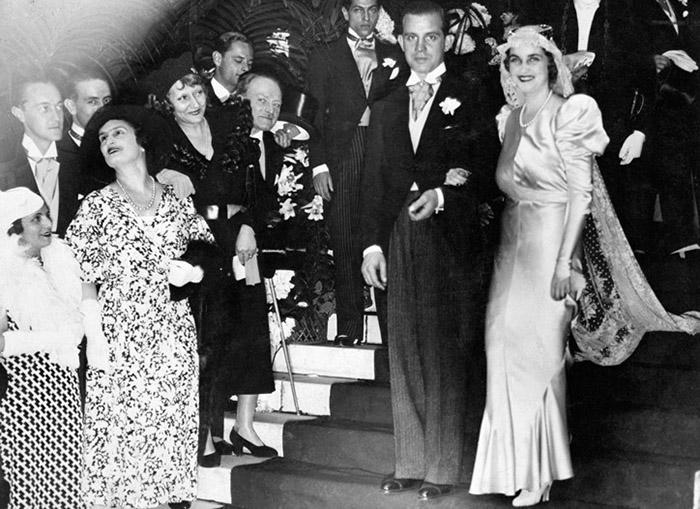 Свадьба Барбары Хаттон и Алексиса Мдивани.