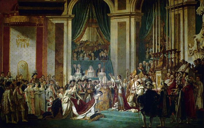 Коронация Наполеона и Жозефины.