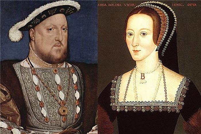 Генрих VIII и Анна Болейн.