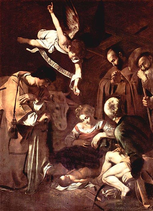 «Рождество Христово со святыми Франциском и Лаврентием», Микеланджело Меризи да Караваджо.