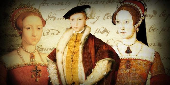 Дети Генриха VIII: Елизавета, Эдуард и Мария.