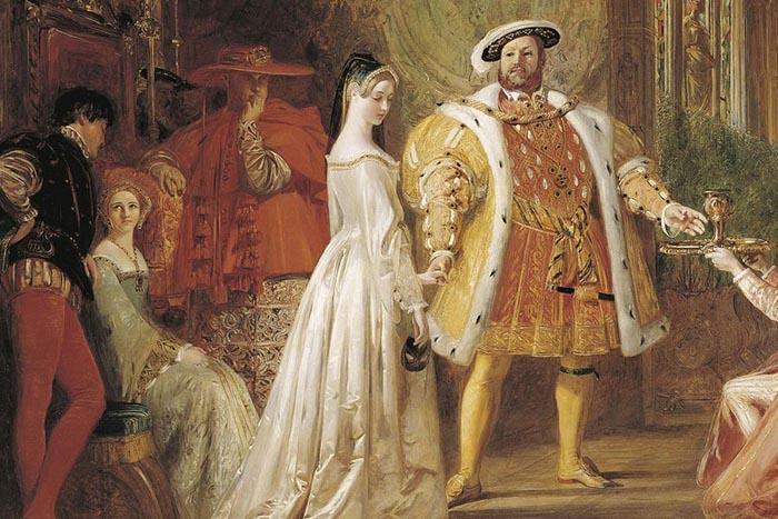 Первая встреча короля с Анной Болейн.