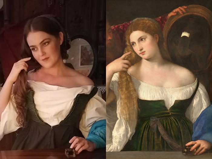 Тициан. Девушка перед зеркалом, 1515.