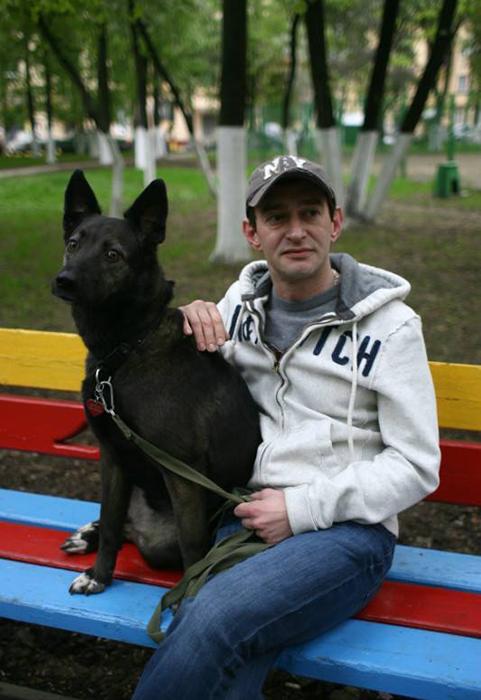 Константин Хабенский и пёс Фрося.