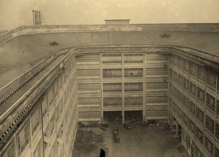 У Fiat был испытательный трек на крыше завода в 1929 году.