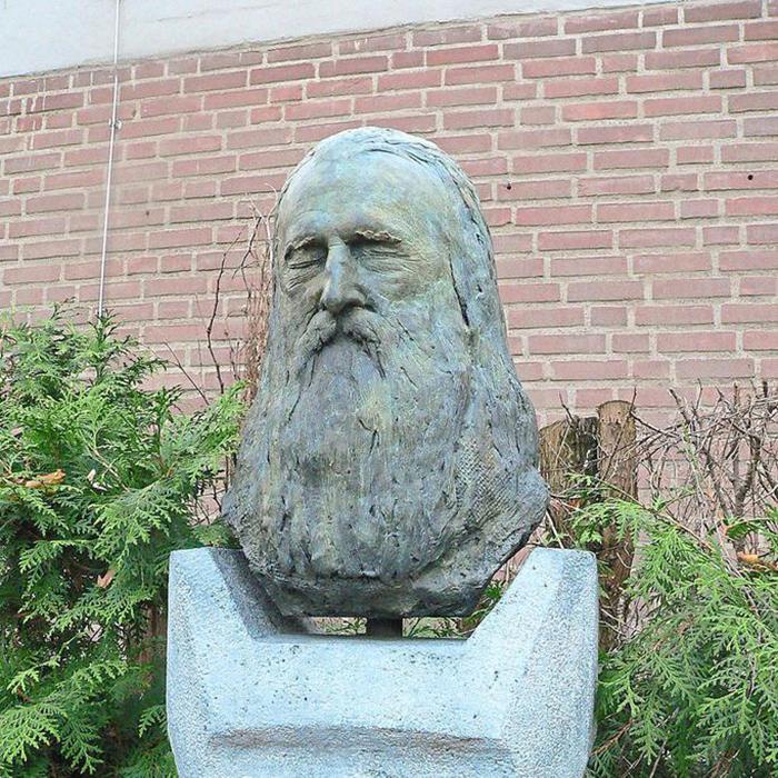 Памятник на могиле Moondog.