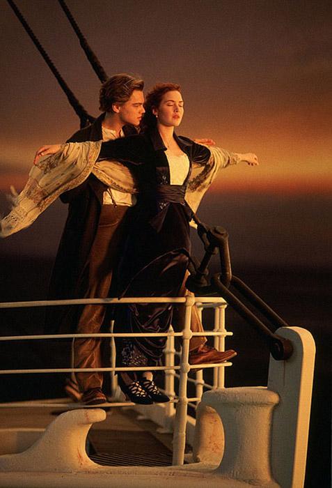 Самая известная сцена из фильма «Титаник». Картина получила 11 Оскаров из 14 возможных.