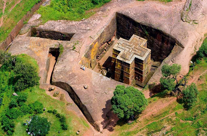 Церковь Святого Георгия, Лалибэла, Эфиопия.
