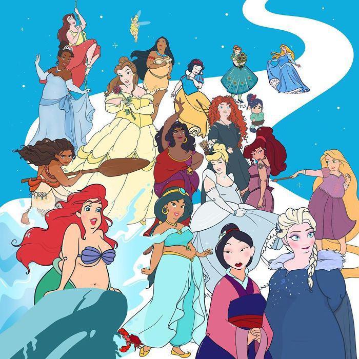 Хрупкие принцессы Диснея в глазах Кристалл Уолтер.