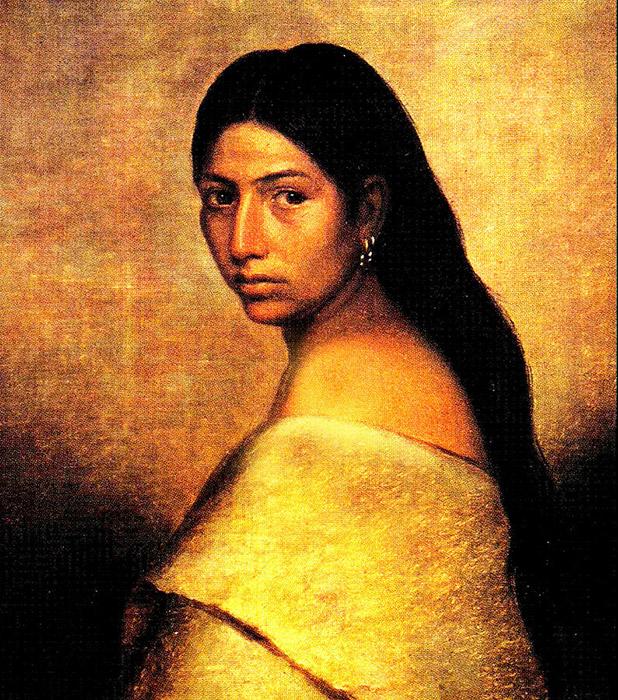 Красавица из племени чокто.