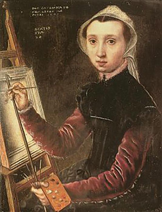 Картина Хемессен - одна из самых новаторских в истории создания автопортретов.